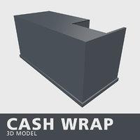 cash wrap 3D model