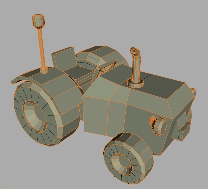 3D small tractor model