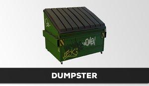 3D dumpster model