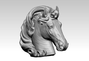 3D model mustang head cnc