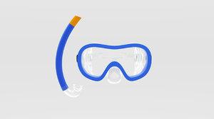 scuba mask snorkel 3D model