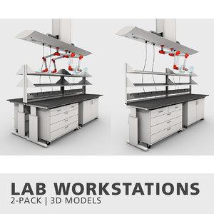 lab workstations 3D model