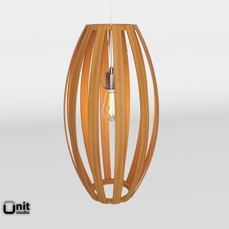 bentwood pendant barrel 3D model