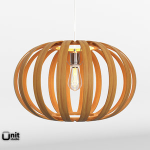bentwood pendant oblong 3D model