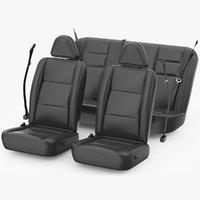 3D car seats set model