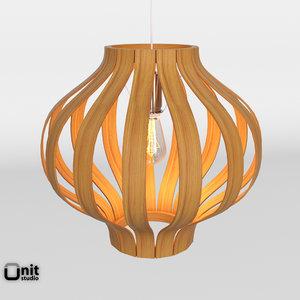 bentwood pendant onion 3D model