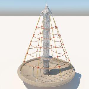 3D climbing net pyramid -