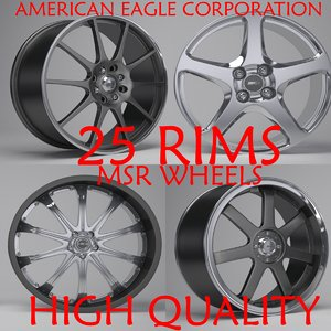 msr wheels 3D model