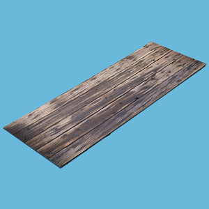 3D model wood plank