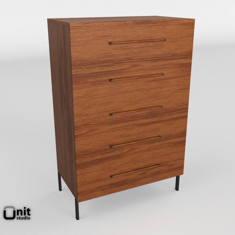 nash dresser west elm 3D model