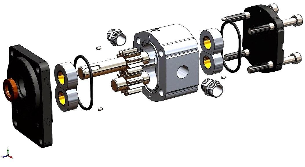3D pump gear model