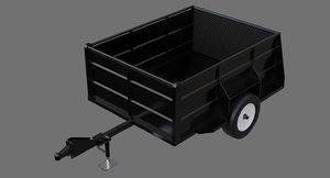 3D utility trailer 1a