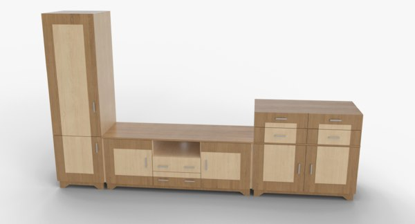 tv stand 50 3D model