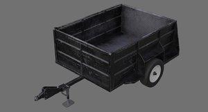 utility trailer 1b 3D
