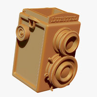 box old camera ready 3D model