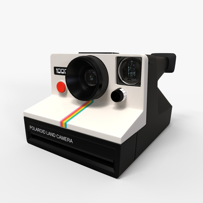 3D camera polaroid model