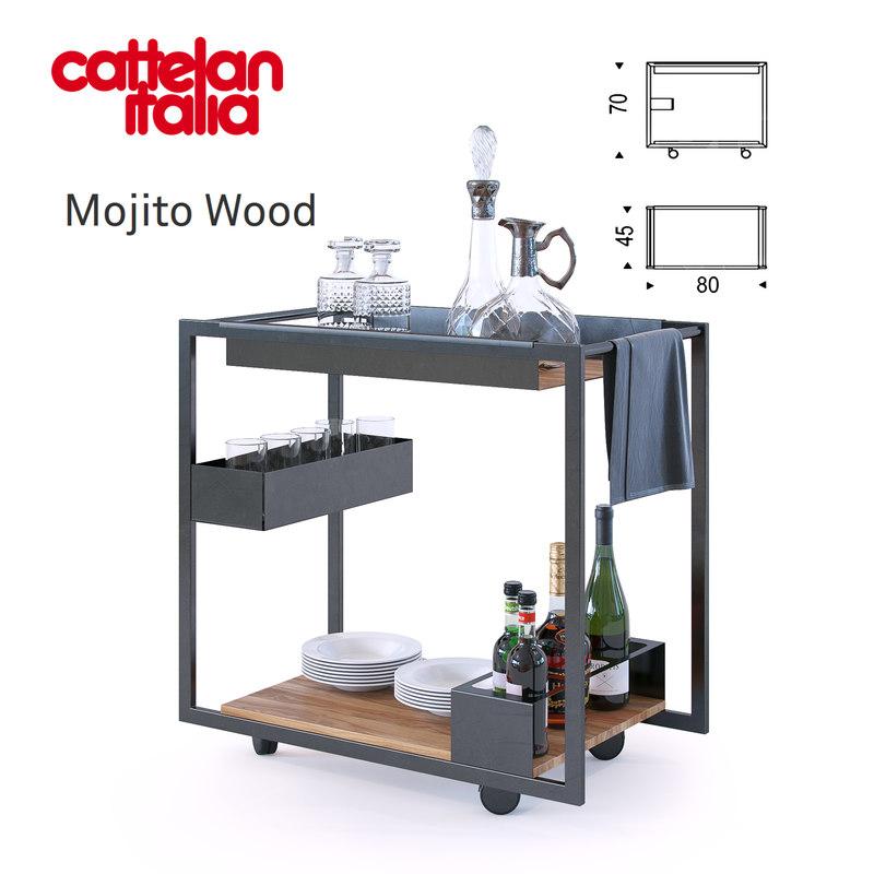 3D mojito wood cattelan italia