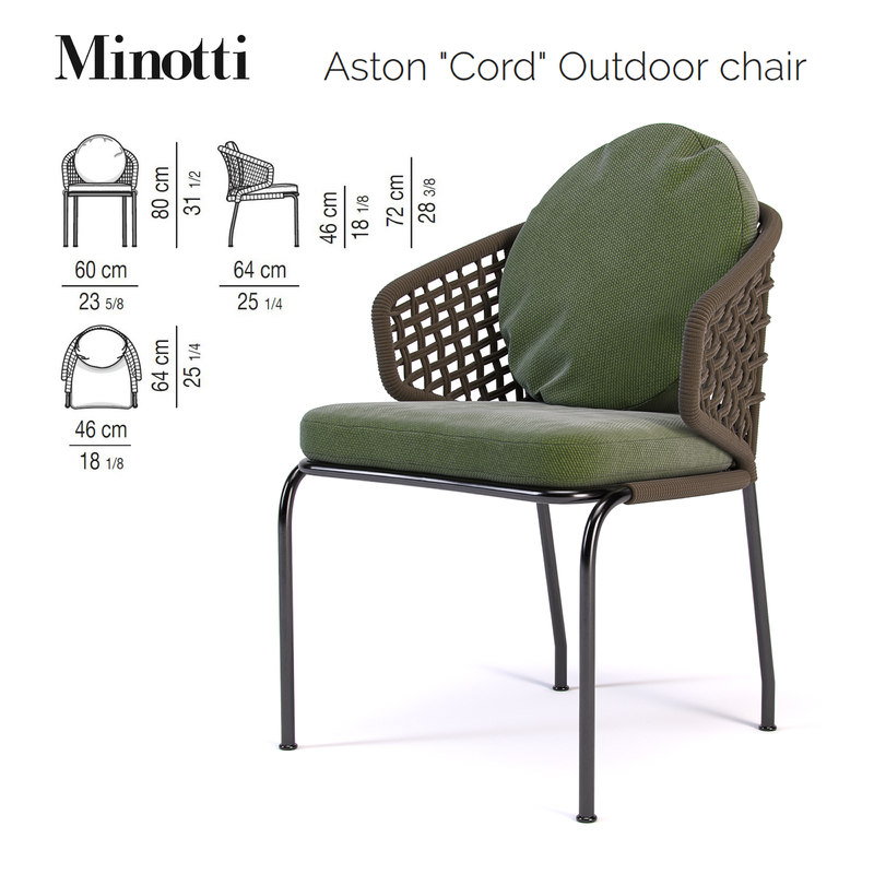 aston cord outdoor chair 3D