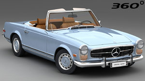 mercedes-benz 280 sl 1963 3D model