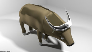 3D africa buffalo