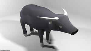 asia buffalo 3D model