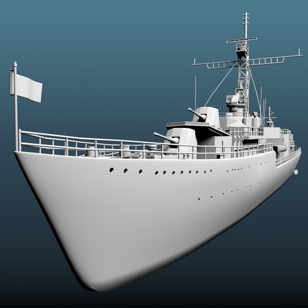 ww2 destroyer 2 model