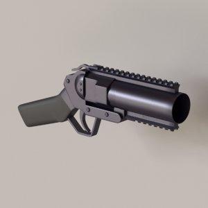 3D musketon weapon gun model