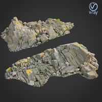 3D scanned rock cliff n model