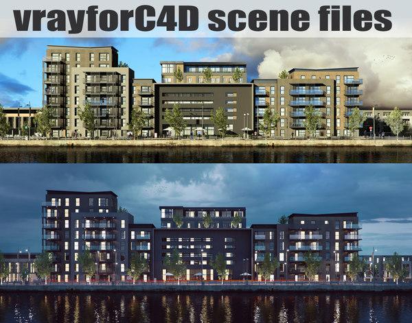 vrayforc4d files - waterfront 3D