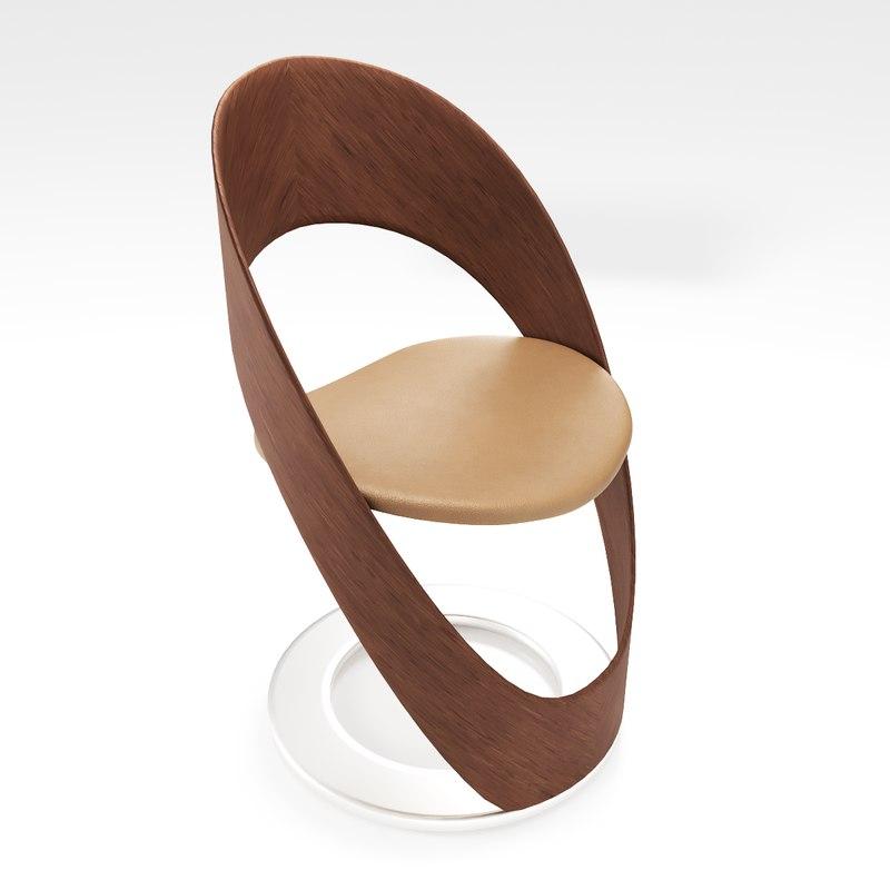 design bar stool 3D