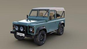 1985 land rover defender 3D model