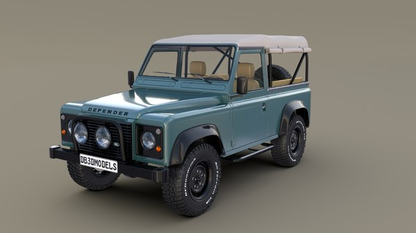 1985 land rover defender 3D model