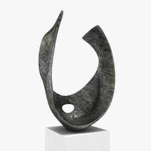 3D sculpture barbara hepworth - model