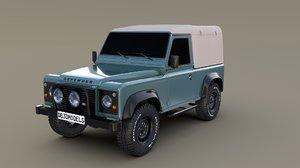 3D 1985 land rover defender