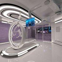 futuristic sci fi medical 3D