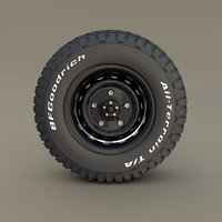 offroad bf goodrich wheel 3D model