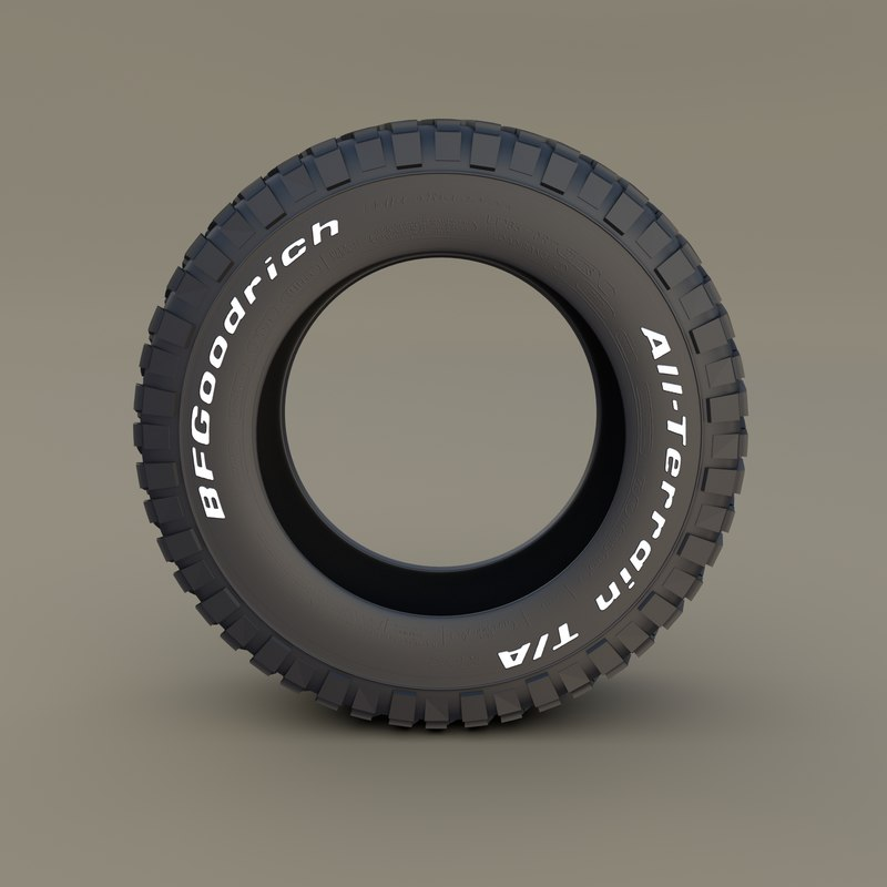 3D bf goodrich tire model