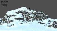 mount mountain snow 3D model