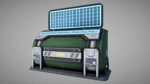 3D sci fi console model