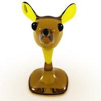3D mouse head