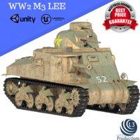 ww2 m3 lee 3D model