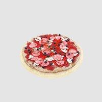 mushroom pizza plate 3D model