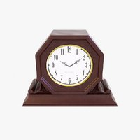 3D fireplace table clock model