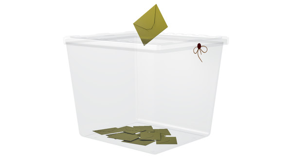 transparent ballot box 3D model