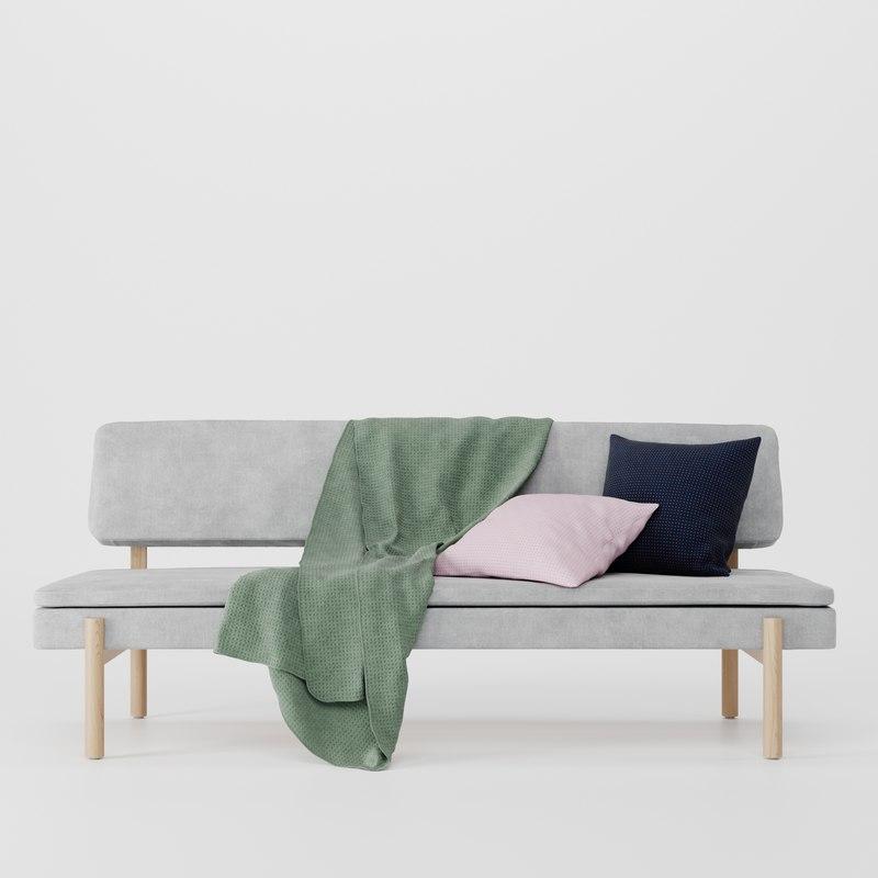 ypperlig ikea sofa pillow 3D