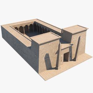 ancient egyptian building 3D model