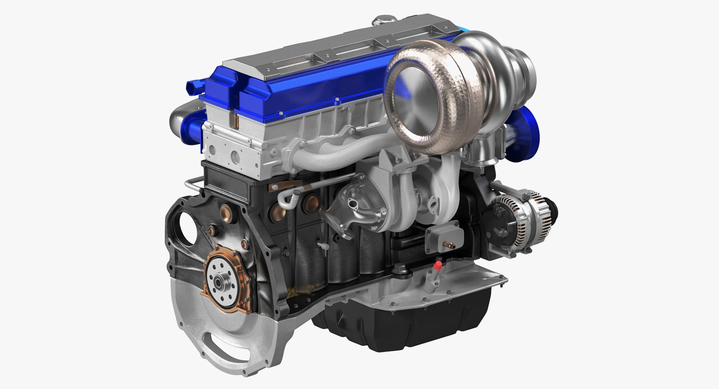 toyota jz engine 3D model