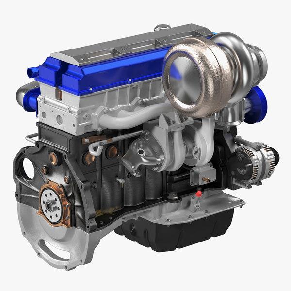 toyota jz engine 3D model