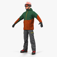 snowboarder winter sports gear model