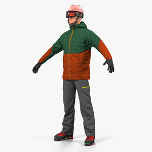 snowboarder winter sports gear model